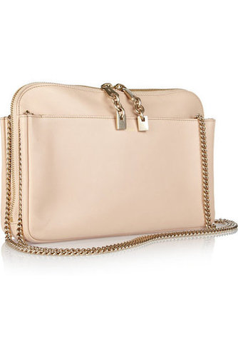 Chlo|Lucy leather clutch|NET-A-PORTER.COM