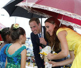 Will and Kate, who are always so cute with kids, met young well-wishers in the Solomon Islands.