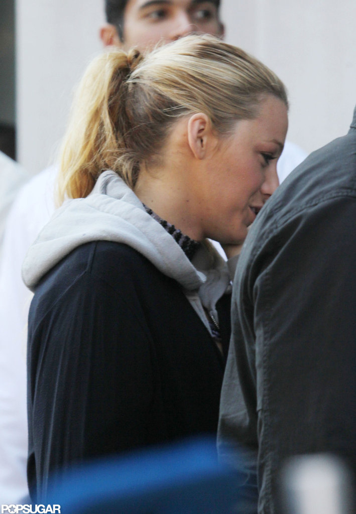 Blake Lively returned to the set of Gossip Girl in NYC after her wedding.