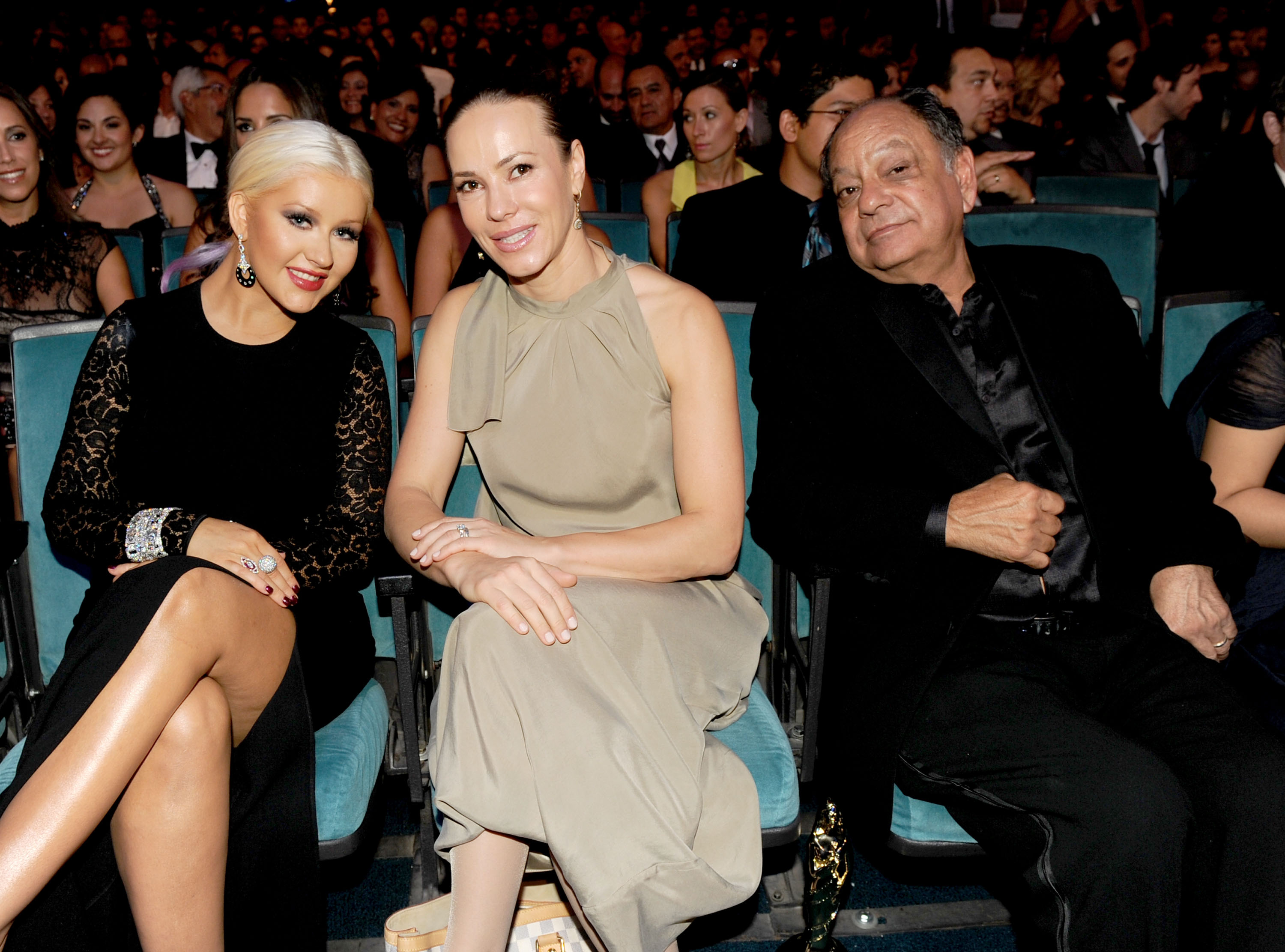 Christina Aguilera was seated next to Natasha Marin and Cheech Marin for the ALMA Awards in LA.