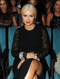 Christina Aguilera took her seat at the ALMA Awards in LA.