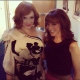 Kathy Griffin crossed paths with Mad Men actress Christina Hendricks. Source: Instagram user kathygriffin
