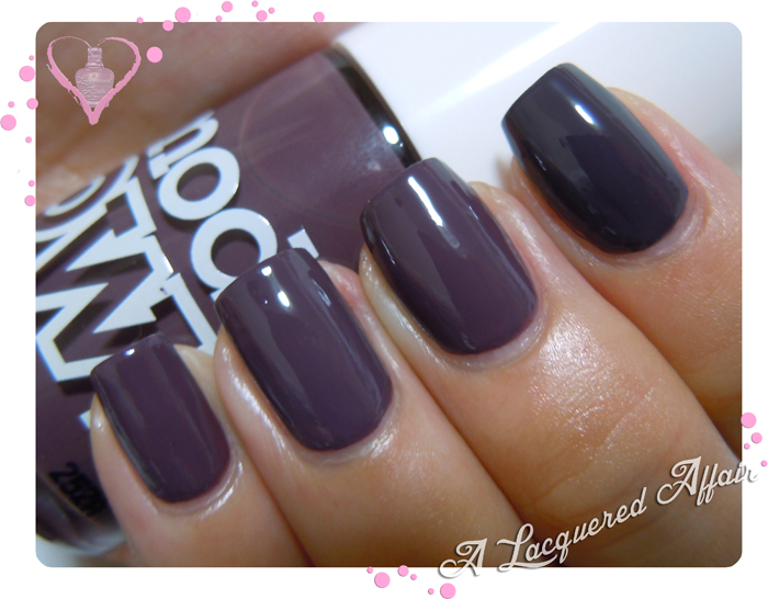 Models Own Purple Grey vs Tony Moly TR09 Deep Purple vs Essie Smokin' Hot