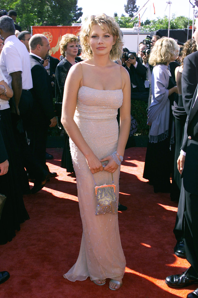 Michelle Williams wore a pastel hue to the 1999 Emmy Awards.