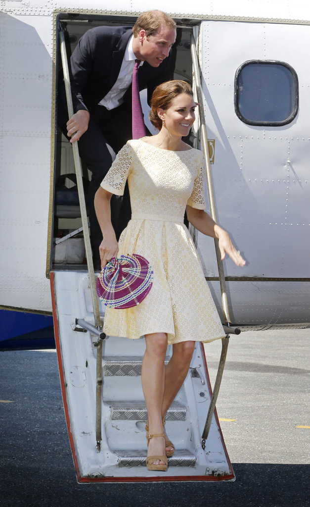 Prince William and Kate Middleton landed in Tuvalu.