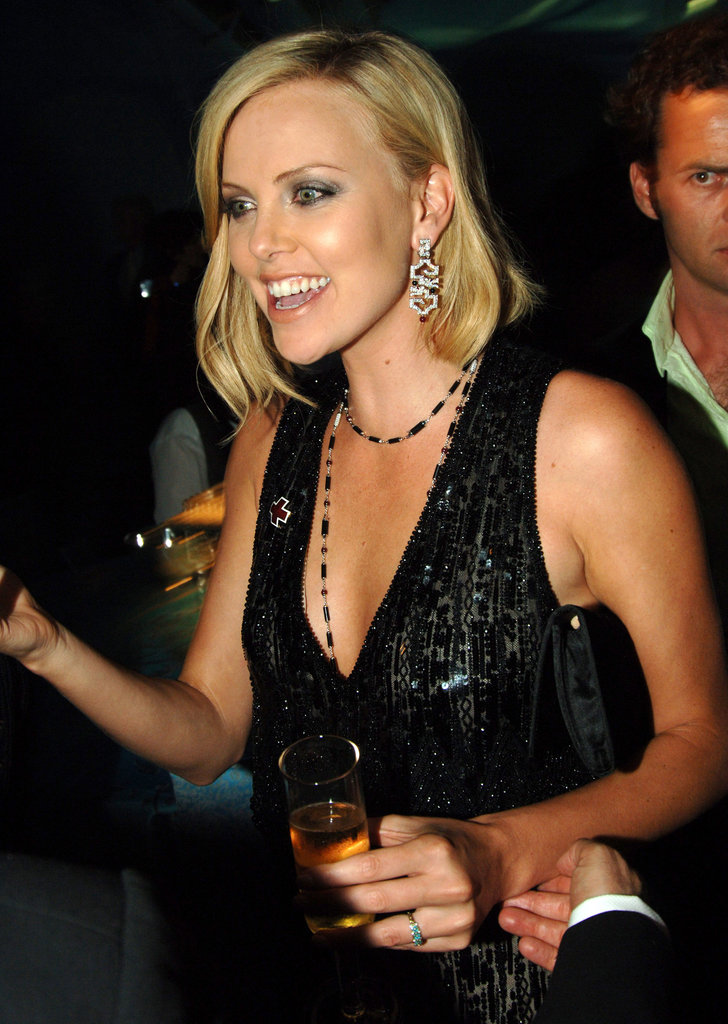 Charlize Theron partied with TV's hottest stars in 2005.