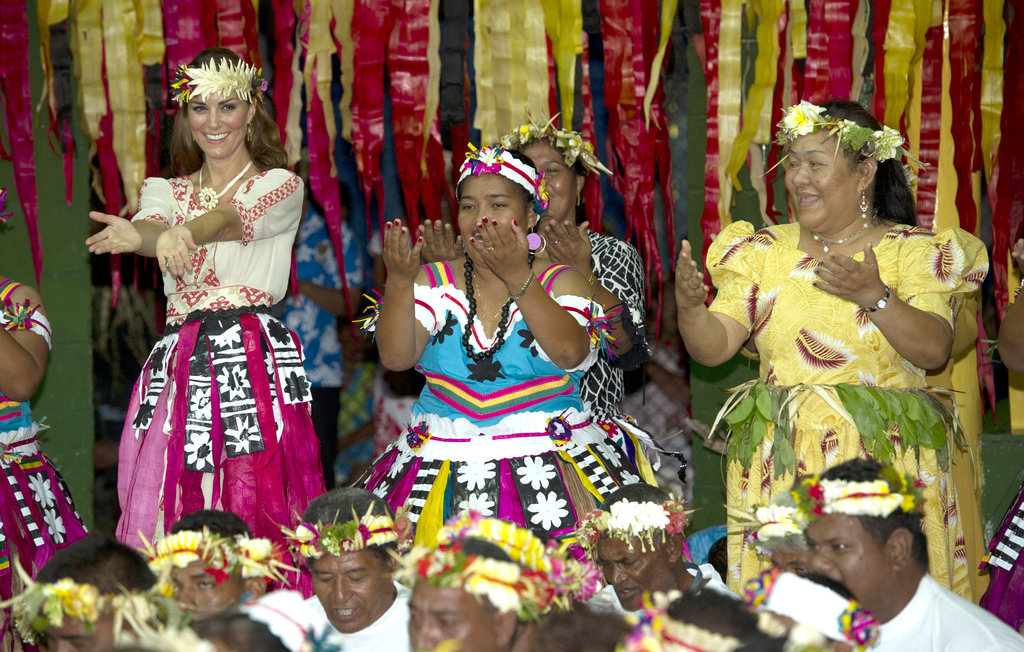 Kate Middleton joined in on the dancing in Tuvalu.