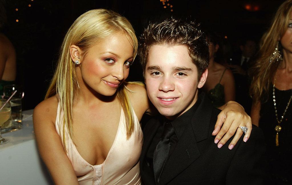Nicole Richie shared a hug with Ryan Pinkston in 2004.