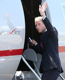 Prince William boarded a jet to head to Tuvalu.