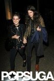 Kelly Osbourne took the hand of her boyfriend, Matthew Mosshart, leaving a party in London.