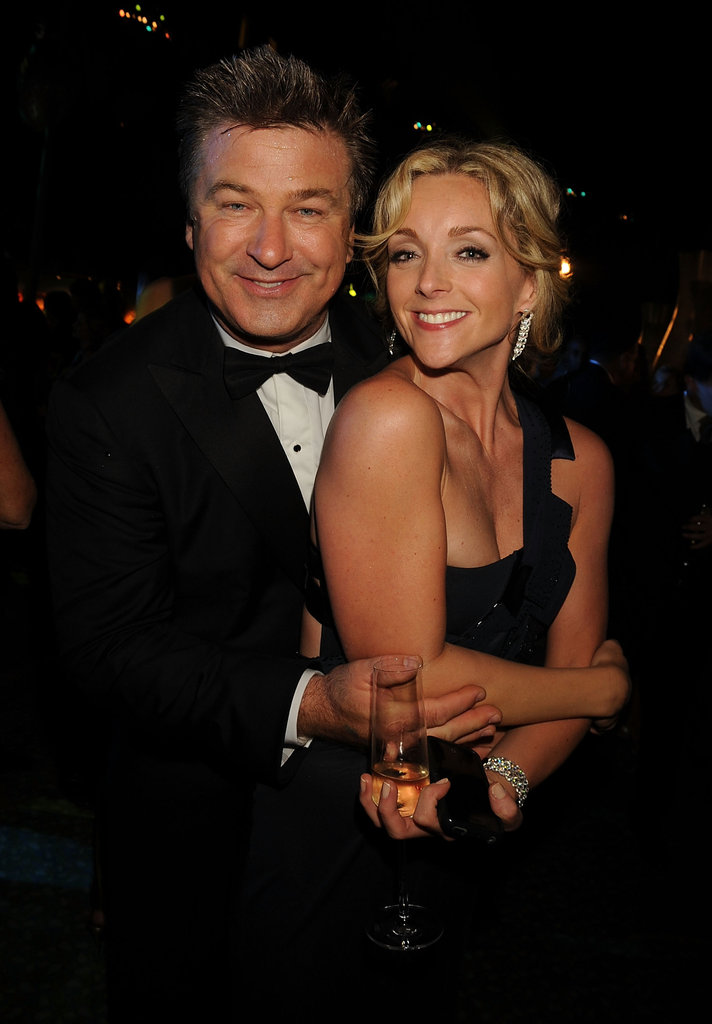 Alec Baldwin and Jane Krakowski posed for a photo during a 2008 after party.