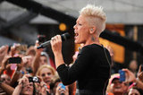 Pink Celebrates Her Album Release With Family and a Concert