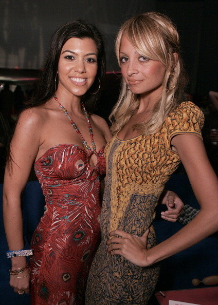 Nicole Richie and Kourtney Kardashian posed together during the T-Mobile Sidekick 3 Launch Party at The Paladium in Hollywood in June 2006.