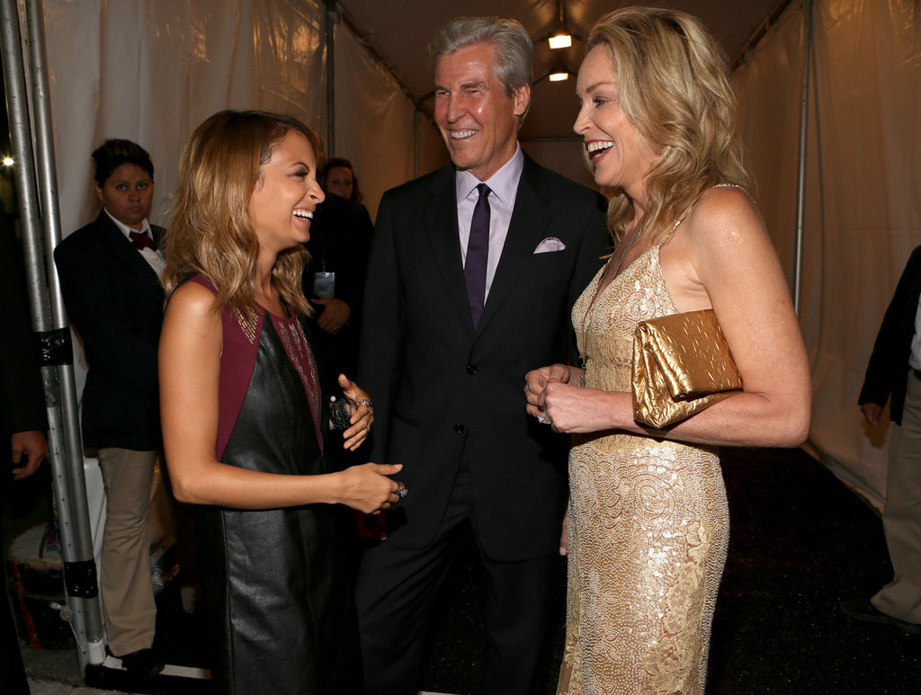 Nicole Richie and Sharon Stone chatted at Macy's Glamorama event with Terry Chairman in LA in September.