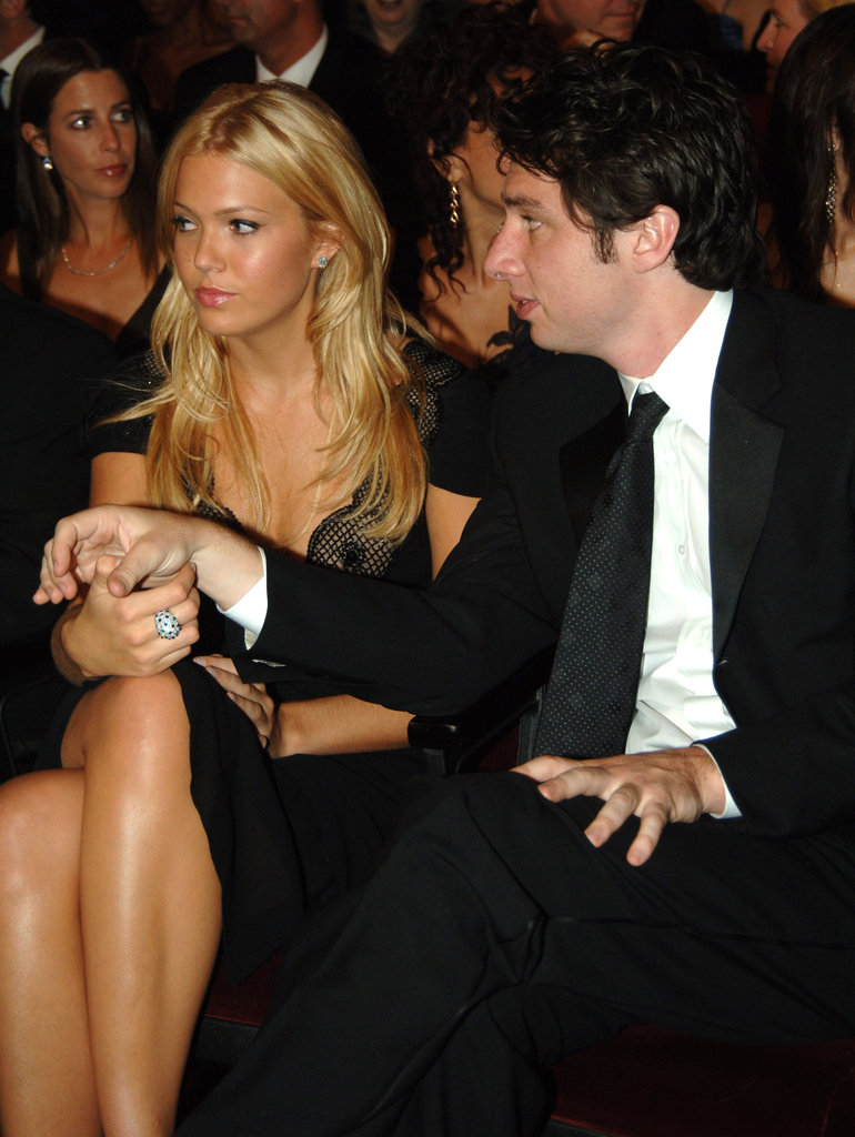 Mandy Moore and Zach Braff held hands during the 2005 award show.