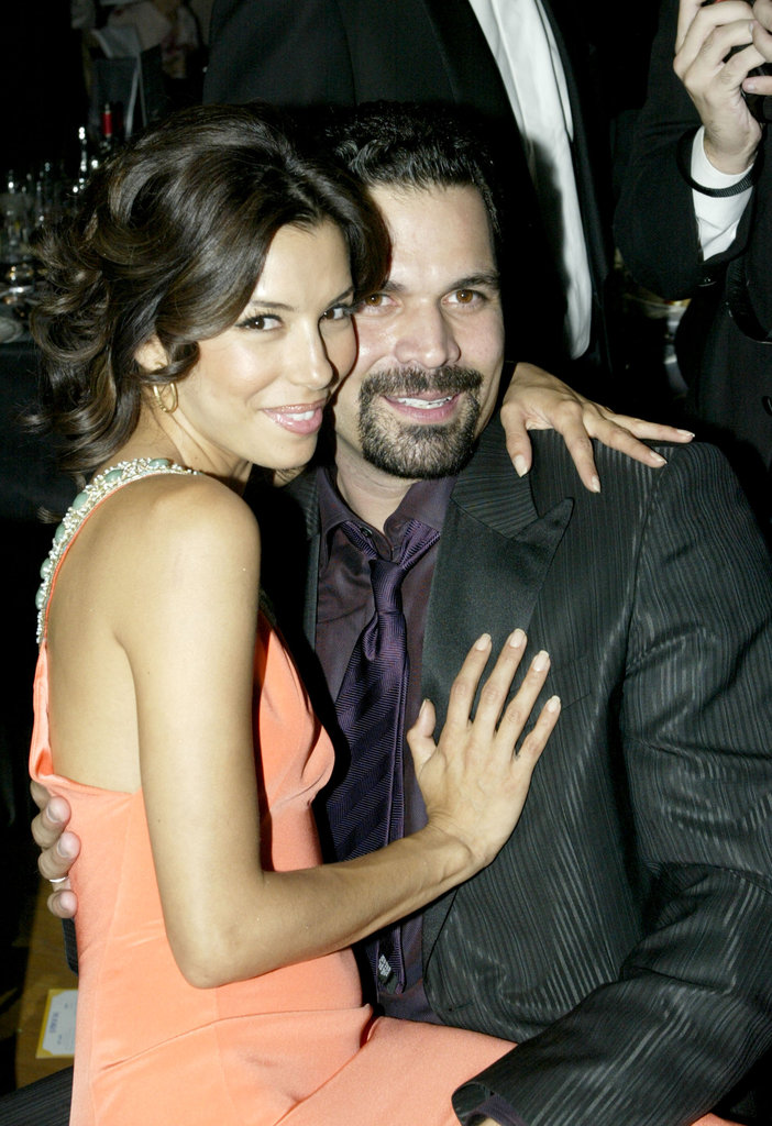 Eva Longoria cosied up to her Desperate Housewives co-star Ricardo Chavira in 2005.