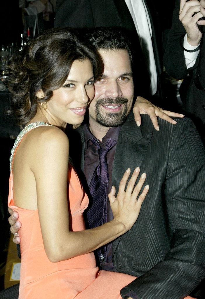 Eva Longoria cosied up to her Desperate Housewives co-star Ricardo Chavira in 2005.
