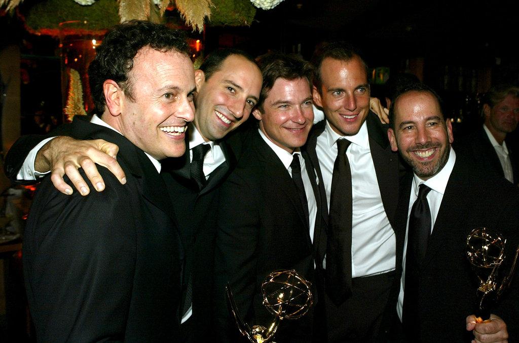 Arrested Development pals Tony Hale, Jason Bateman and Will Arnett shared a hug in 2004.