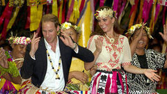 Video: See Kate and William Dance in Tuvalu — Who Has Better Moves?