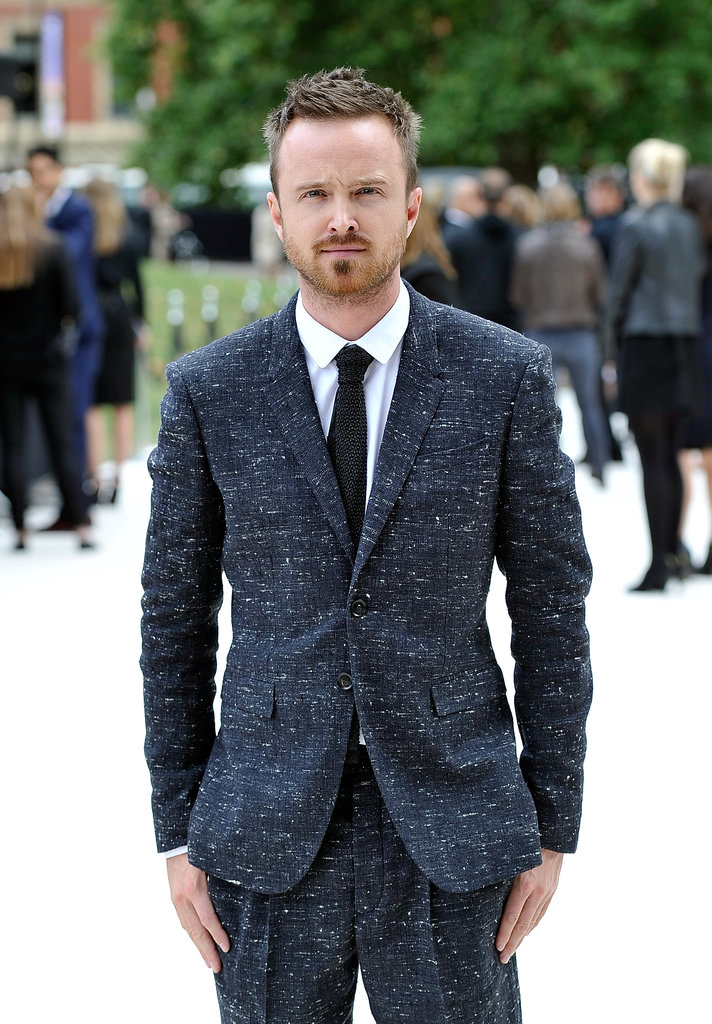 Aaron Paul went to London Fashion Week.