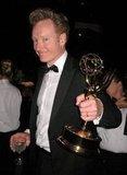 Conan O'Brien showed off his trophy in 2007.