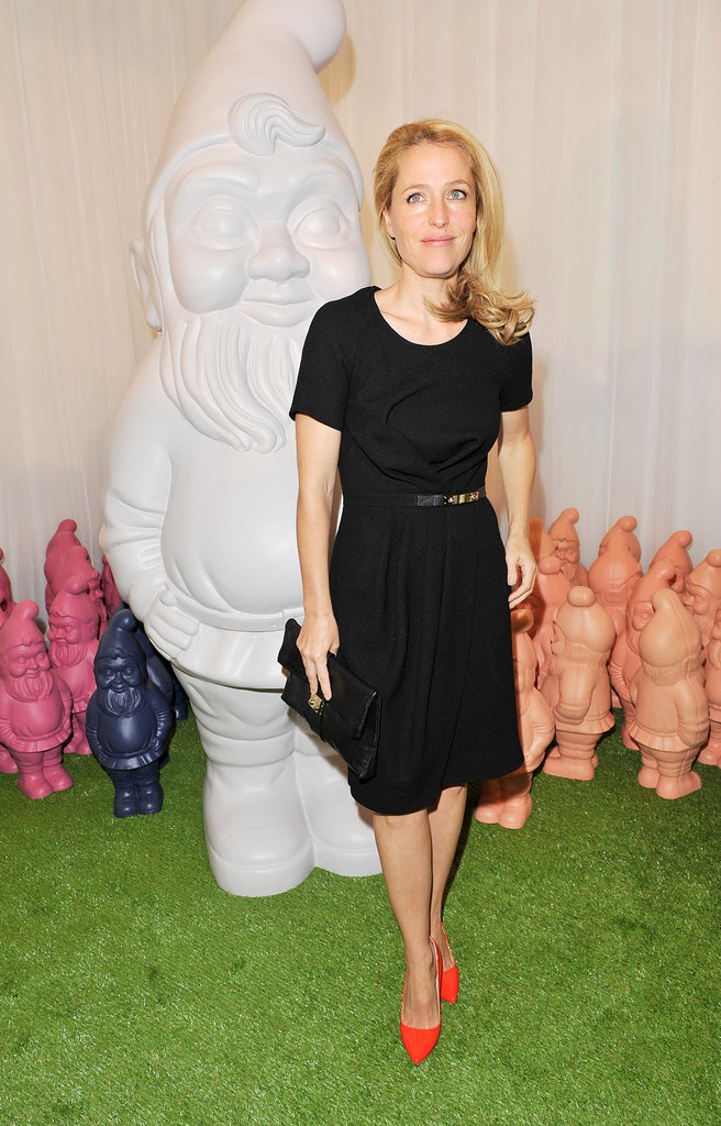Gillian Anderson arrived at the Mulberry Spring Summer 2013 show during London Fashion Week.