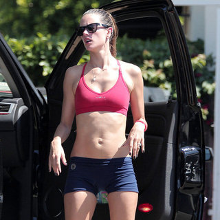 Alessandra Ambrosio Wears a Sports Bra | Pictures