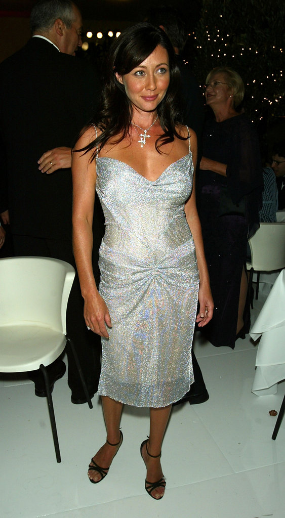 Shannen Doherty partied with pals at a post-show celebration in 2004.