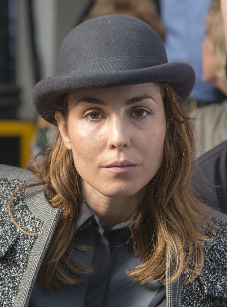 Noomi Rapace was front row at Antonio Berardi.