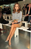 Olivia Palermo was front row at Matthew Williamson.
