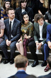 Aaron Paul, Dita Von Teese and Harry Styles at Burberry