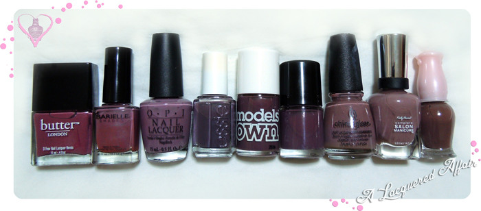 Models Own Purple Grey Comparisons