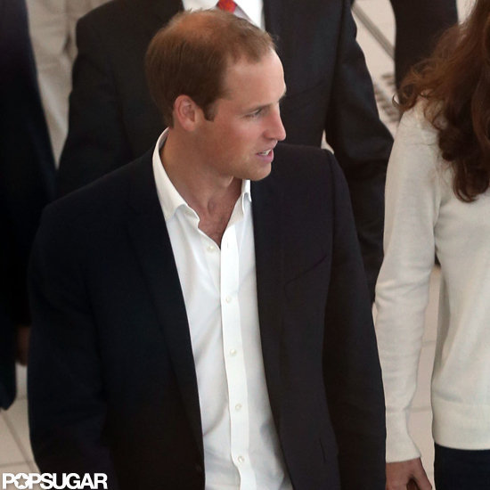 Prince William ditched his tie to travel back to London.