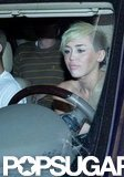 Miley Cyrus drove Liam Hemsworth to the airport.