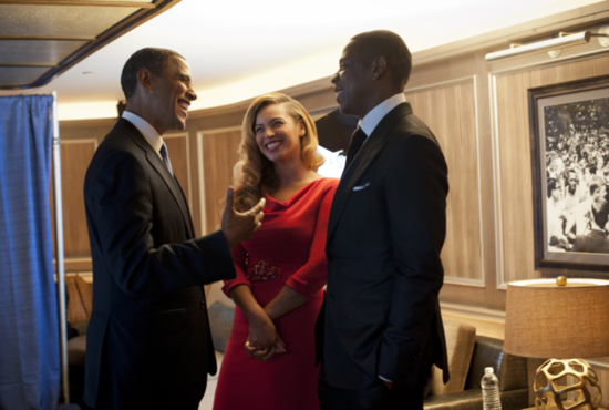 Beyoncé and Jay-Z Pose With President Obama at Their NYC Fundraiser