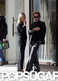 Kate Moss and James Brown both kept it simple in black.