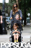 Sarah Jessica Parker pushed the twins' stroller.