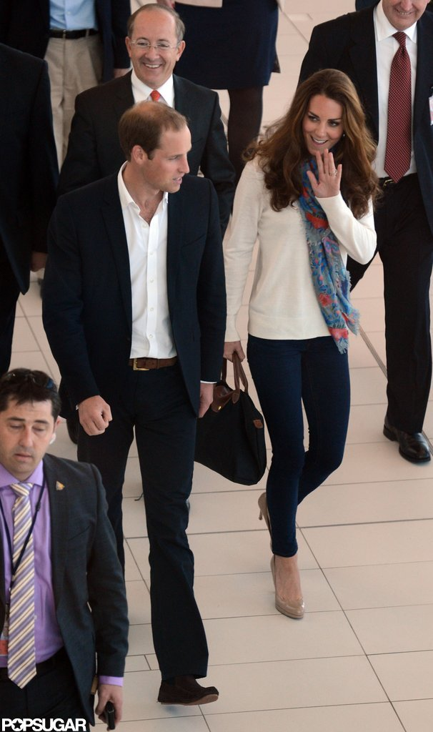 Kate Middleton changed into jeans.