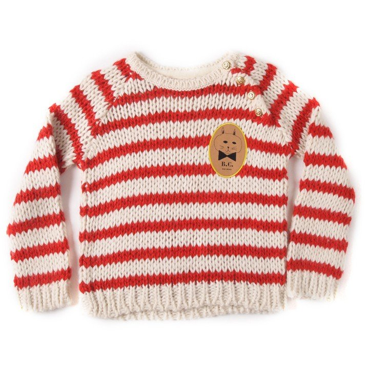 Bobo Choses Knitter Striped Jumper ($92)
