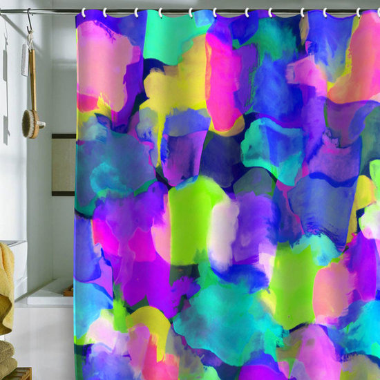 DENY Designs Amy Sia 'Brushstroke Blue' Shower Curtain