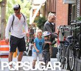 Liev Schreiber and Naomi Watts took their boys, Kai Schreiber and Sasha Schreiber, for a bike ride around NYC.
