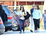 Natalie Portman and Aleph Millepied ran an errand in LA.