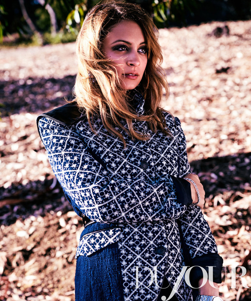 Nicole Richie appeared in DuJour magazine.