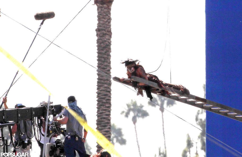 Johnny Depp shot The Lone Ranger in LA.