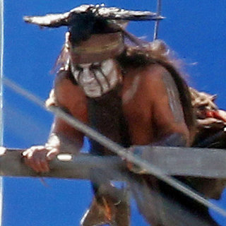 Johnny Depp on Lone Ranger Set | Pictures