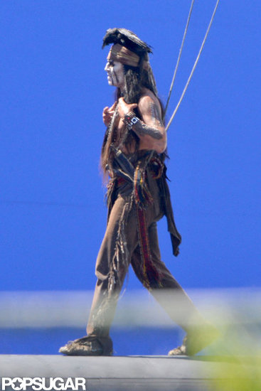 Johnny Depp was in LA making The Lone Ranger.