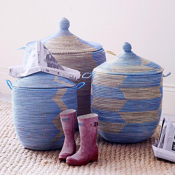 Serena & Lily Sengalese Storage Baskets
