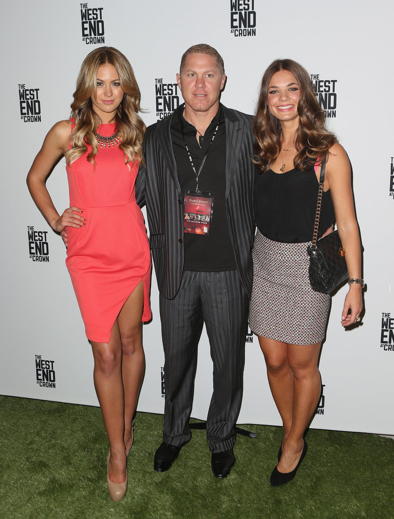 Jesinta Campbell, Danny Green and Laura Peric