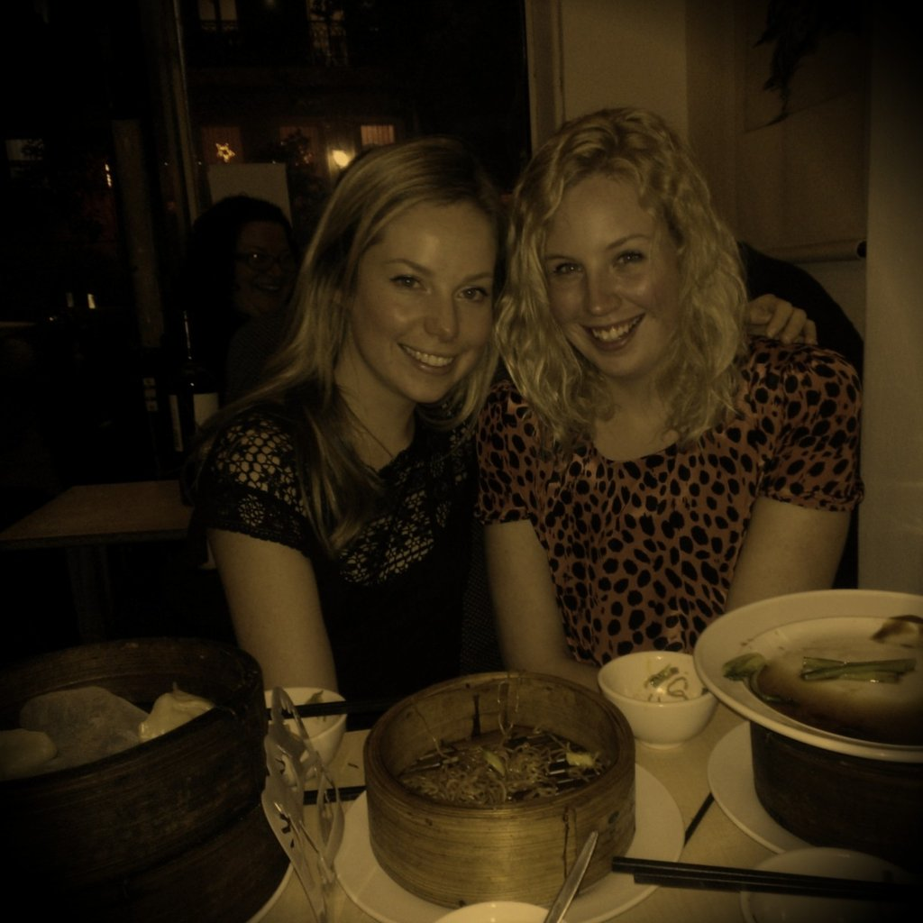 Naw... Sisterly bonding over dumplings in Potts Point Friday night. So good. So cheap!