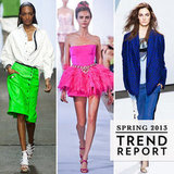 New York Fashion Week was filled with rainbow realness. Our color trend report will show you what colors of the spectrum you'll be wearing come Spring.